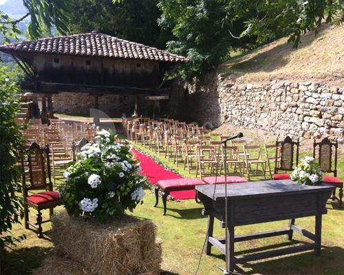 Montaje de boda en Palacio de Rubianes