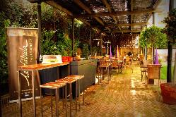 Terraza del Restaurante La Fábula Granada