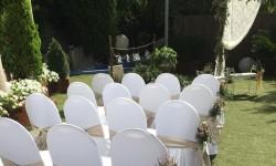 Hotel Don Cándido****y montaje en el jardín de una ceremonia civil