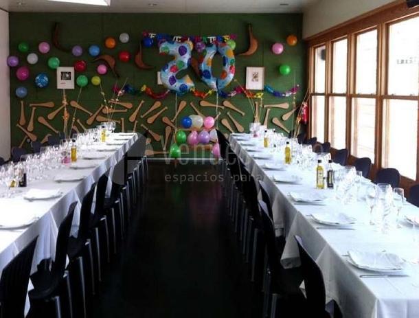 Sala principal, eventos de empresa, fietas de cumplea?os en el  Restaurante  Casa Alcaide