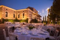 Mesas redondas Palacio Santa Cristina