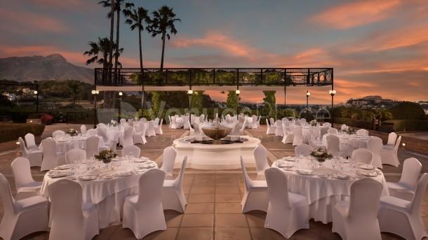 Plaza Casa Club , montaje de banquete en The Westin La Quinta Golf Resort & Spa