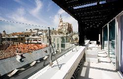 Fabulosa terraza en el Room Mate Oscar