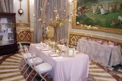 Montaje banquete en Sala Rotonda