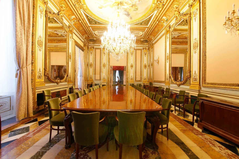 Vista del Salón Luis XV en Palacio de Santoña