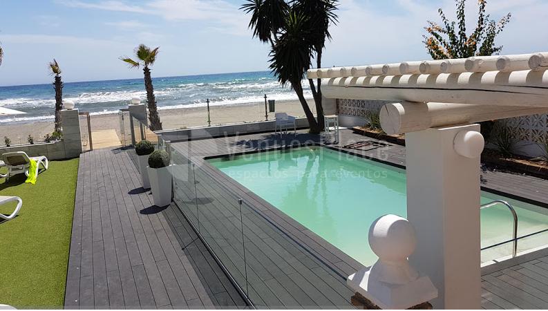 Exterior 7 en Hotel Santa Rosa piscina y solarium para sus invitados.