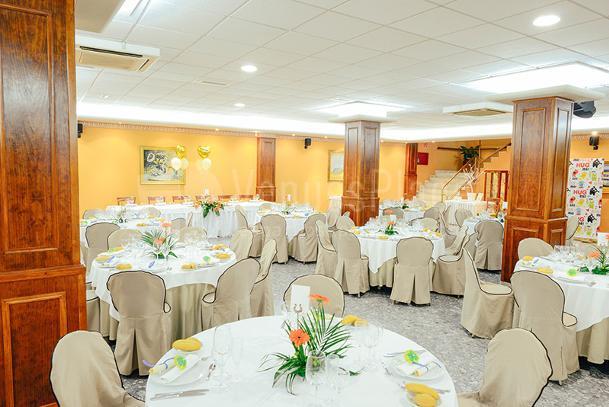 Hotel Santa Rosa montaje banquete de boda, eventos únicos.