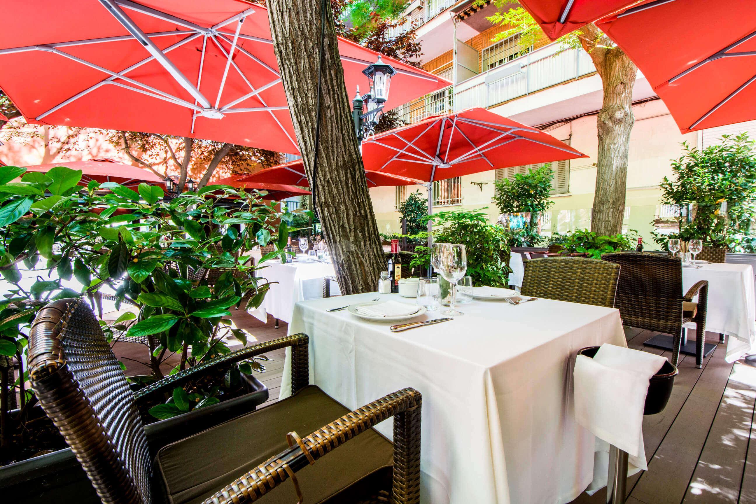 Terraza exclusiva en Restaurante Casa Narcisa Business Area Madrid - Grupo La Máquina