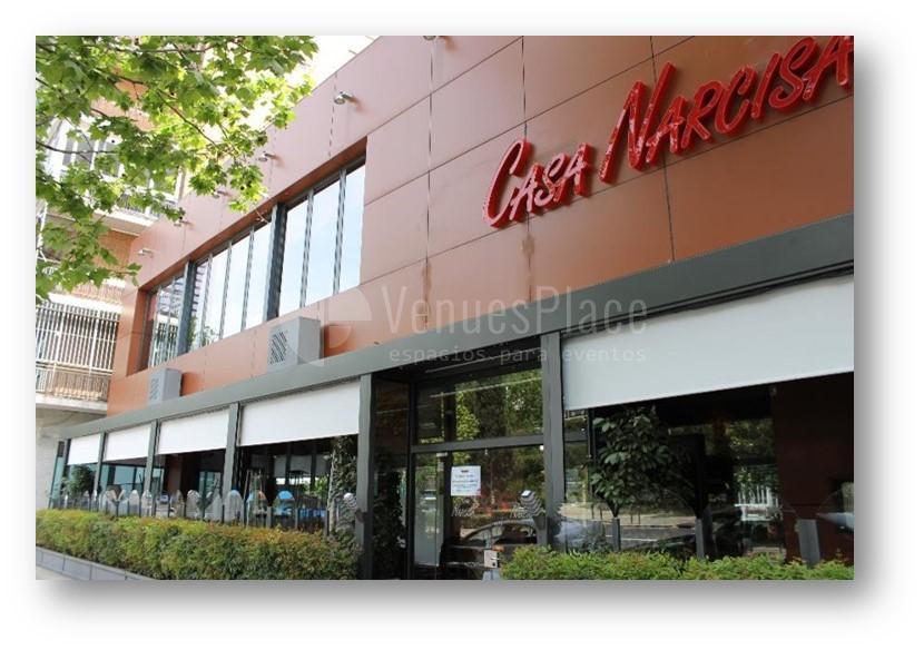 Espacio para eventos y grupos en Restaurante Casa Narcisa Business Area Madrid - Grupo La Máquina