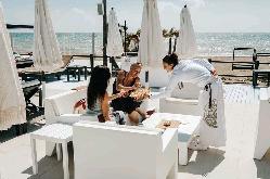 Lounge en Purobeach Marbella