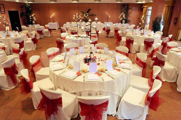 Montaje en formato banquete en Restaurante Les Marines