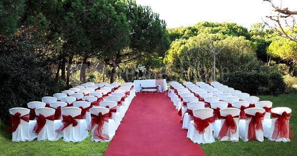 Montajes especiales para bodas en Restaurante Les Marines