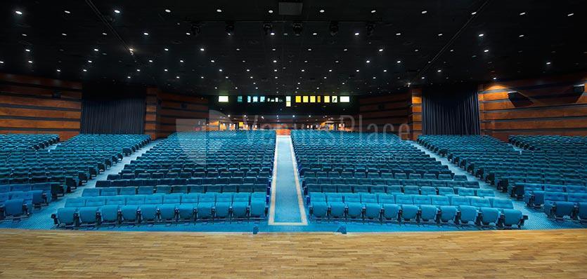 Visión desde el escenario del Auditorio del Hotel Meliá Sitges / View from the stage of the Auditorium of the Hotel Meliá Sitges