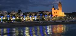 Vistas de la Catedral de Sitges, población donde se encuentra el Hotel Meliá Sitges /  Views of the Cathedral of Sitges, town where is the Hotel Meliá Sitges