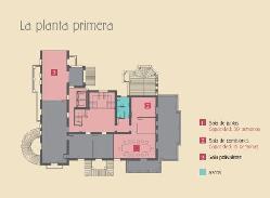 Plano planta primera del Colegio Oficial de Arquitectos Málaga