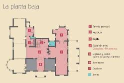 Plano planta baja del Colegio Oficial de Arquitectos Málaga