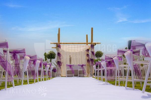 Montaje boda Restaurante Tikitano