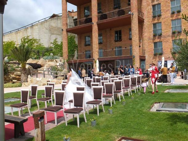 Montaje de boda en el Hotel Bodega Eguren Ugarte