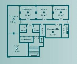 Plano Salones en Hotel Abba Madrid