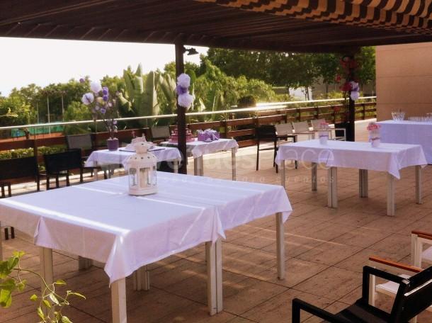 Pérgola Restaurante celebración de tarde