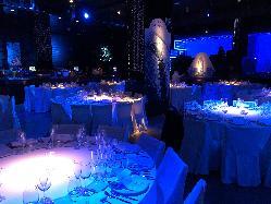 Montaje banquete Main Room en Opium Madrid Eventos