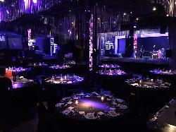 Montaje en banquete en Main Room eventos de empresa . Opium Madrid Eventos