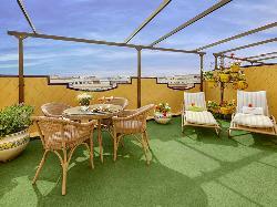 Terraza en Sercotel Gran Hotel Conde Duque