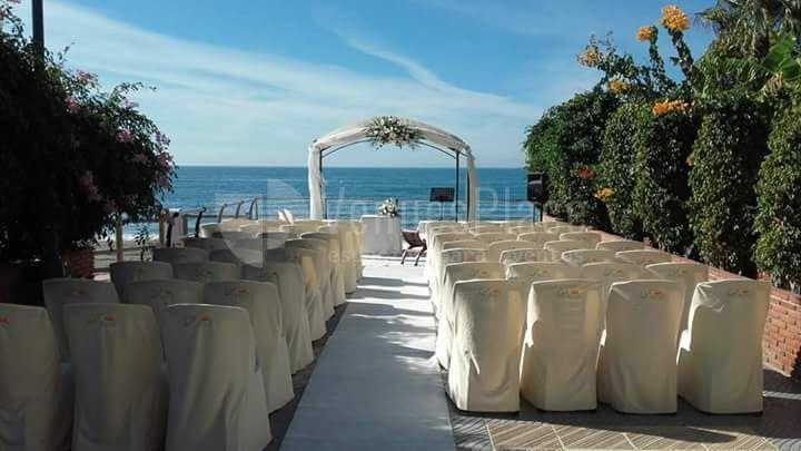 Preciosos montajes para bodas civiles en Restaurante Parquesol