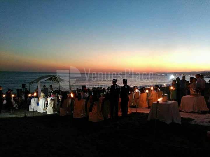 Eventos al atardecer en la playa en Restaurante Parquesol