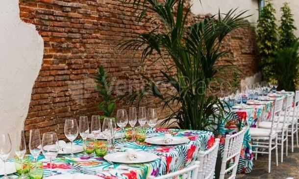 Mesa decoración evento Antigua Champanería