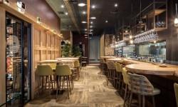 Interior barra y mesas Restaurante Palocortado
