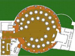Plano del salón Quijote