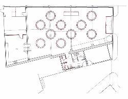 Plano de sala Baco en Bodega Miquel Jané