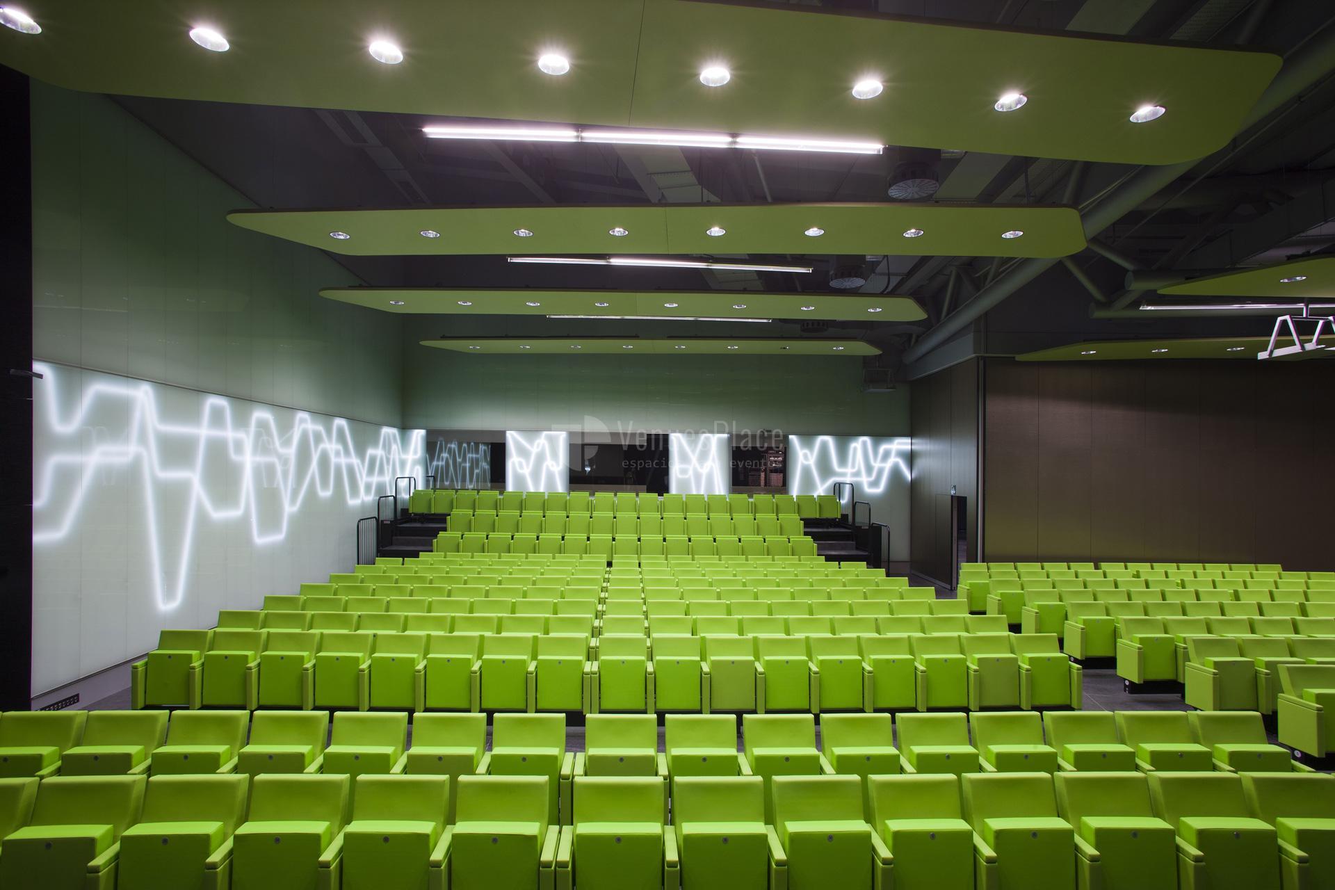 Interior Sala Barria en Palacio Euskalduna