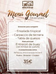 Menú gourmet Horno Beach Club