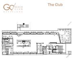 Plano The Club en Go Beach Barcelona