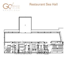 Plano Restaurant Sea Hall en Go Beach Barcelona