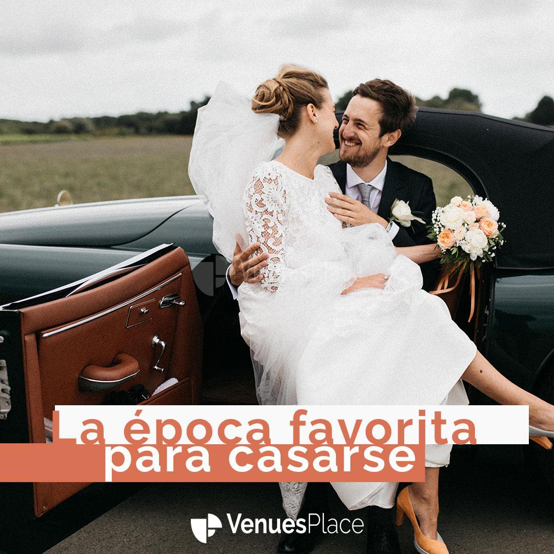 ¿Sabes en qué época se celebran más bodas en España?