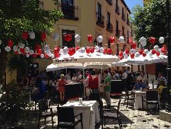 Montaje eventos en el exterior en Restaurante Alacena de la Monjas