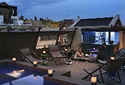 Terraza tranquila con vistas en Hotel Granados 83****