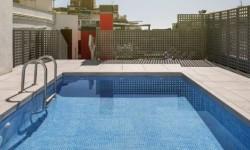 Exterior piscina Hotel Ilunion Auditori