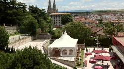 Montajes en el exterior disfruta de las vistas en tu evento en el Hotel Abba Burgos