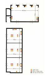 Plano de áreas en Parador de Antequera