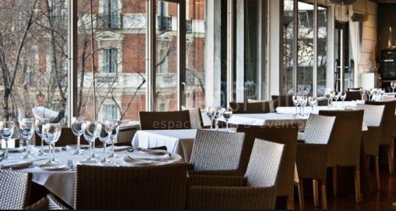 Vistas espectaculares a Madrid en Restaurante Green House