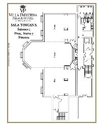 Plano Salones Toscana en Villa Padierna Hotel Palace