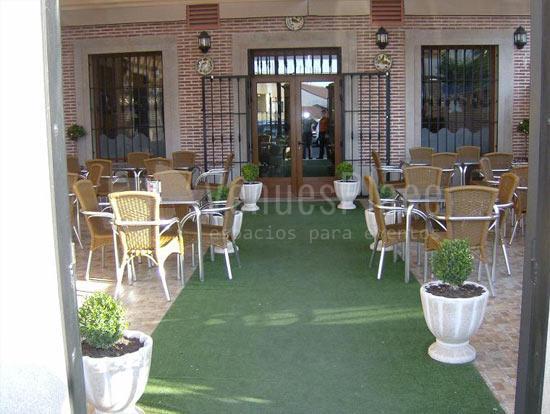 Terraza para clientes en El Hotel Rural el Jardín