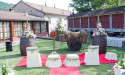 Montaje boda en Pazo La Buzaca