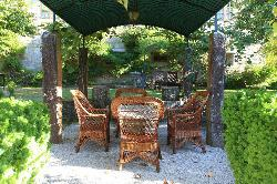 Zona de jardín en Pazo La Buzaca