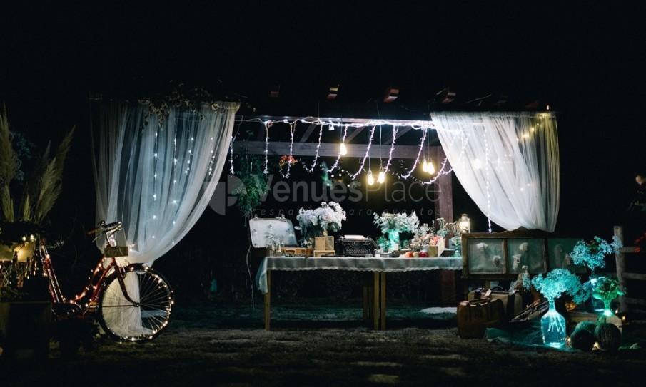 Montaje de boda en Pazo La Buzaca