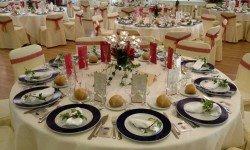 Montaje banquete en Pazo La Buzaca